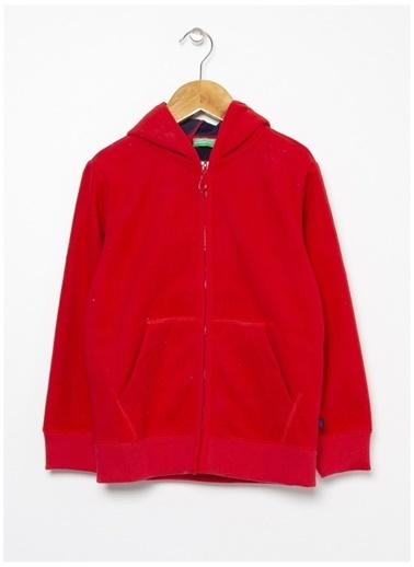 Benetton Benetton Kırmızı Polar Erkek Çocuk Sweatshirt Kırmızı